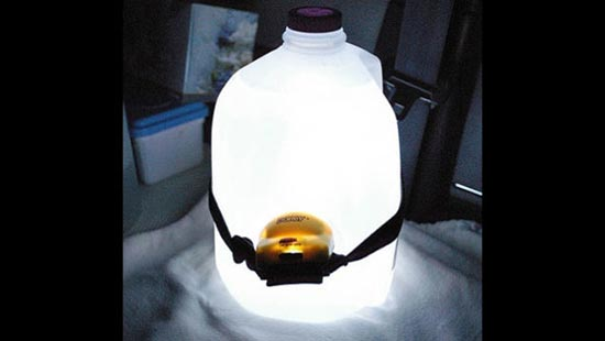Ambient Lamp Out of a Milk Jug