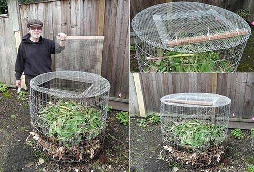 Marvelous Compost Bin From Hardware Cloth