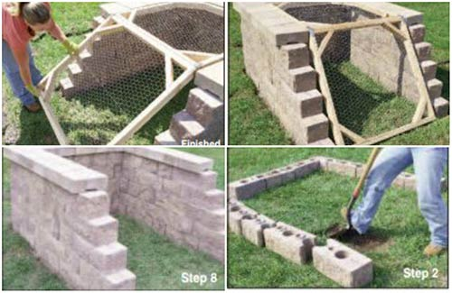 Decorative Brick Compost Bin