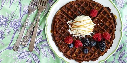 Fudgy Waffle Brownies