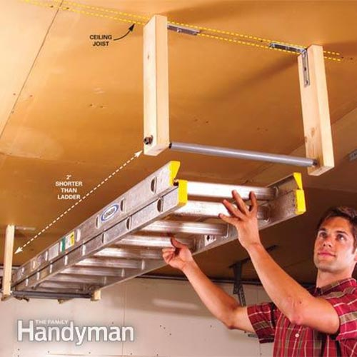 Out-Of-The-Way Ladder Storage