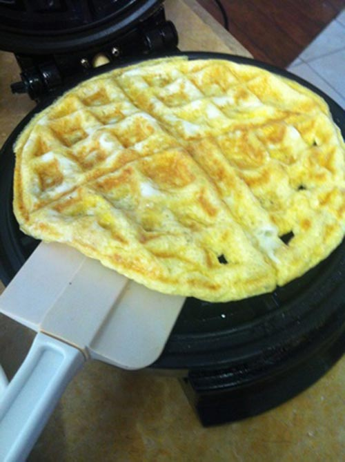 Scrambled Eggs With a Waffle Maker