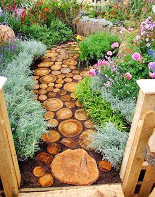 Stump stepping stones