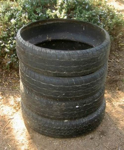 Used Tire Compost Bin