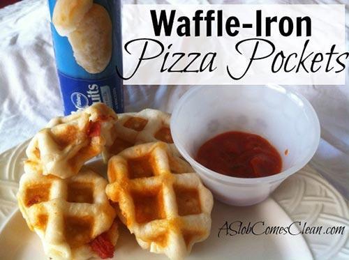 Waffle-Iron Pizza Pockets