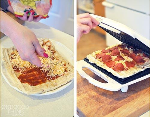 Waffle Iron Pizza