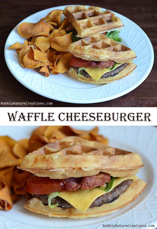 Waffled Cheeseburger