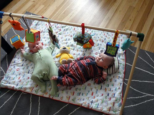 Making A Homemade Baby Gym