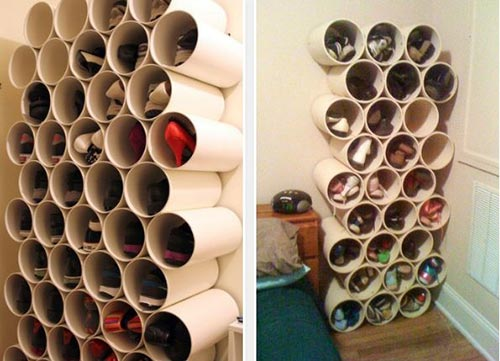 PVC-Shoe-Rack - Tips on how to keep one's house neat and tidy - How To Tips