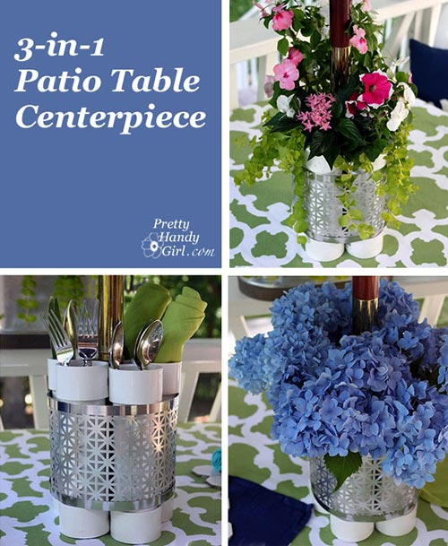 PVC Table Planter, Vase and Serving Station