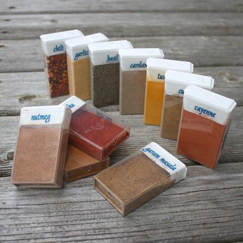 TicTac Boxes for Travel Spices