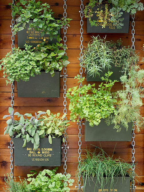 13 creative ways to reuse ammo cans home and gardening ideas for Vertical garden ideas for home