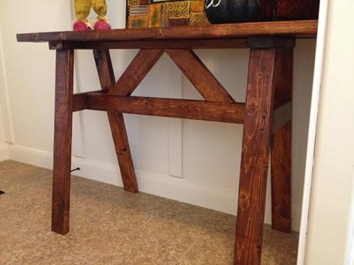 Cheap Wood Entry or Sofa Table Using 2x4's