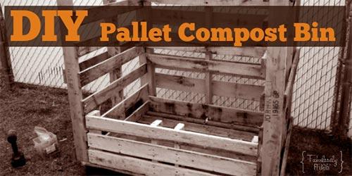 DIY Pallet Compost Bin.