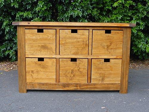 Dumpster Dresser from 2x4s