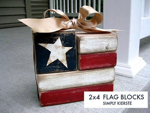 Easy 2×4 Flag Blocks