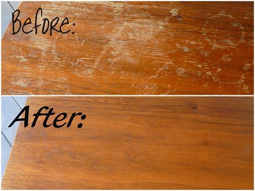 Fix scratches in wood furniture
