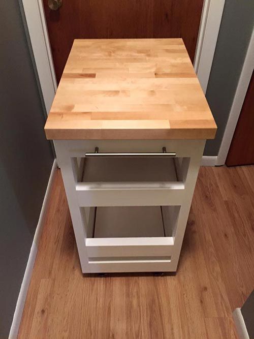 Kitchen Cart with 2x4s
