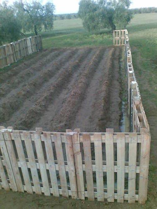 Make a Pallet fence