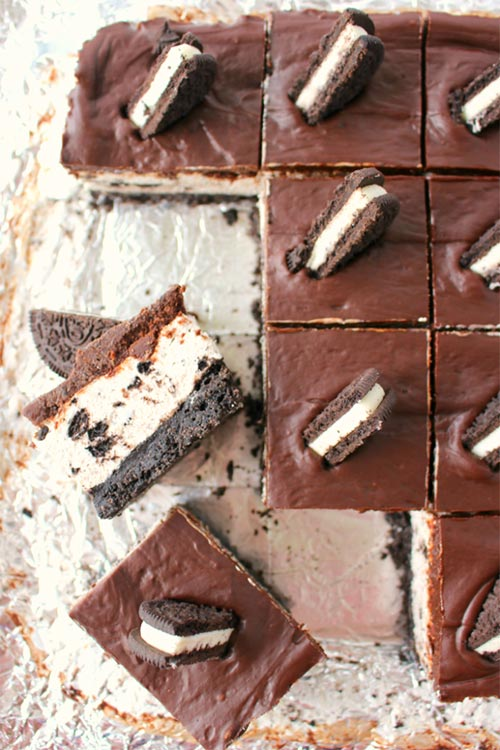 OREO Lovers No Bake Cheesecake Bars