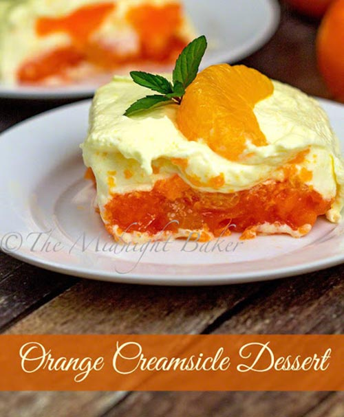 Orange Creamsicle Dessert