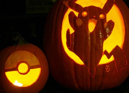 20 pumpkins carving and decor ideas for halloween home for Pokemon jack o lantern template
