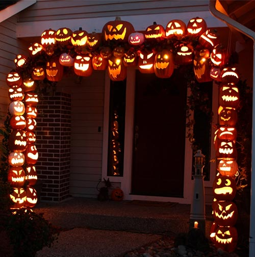 20 pumpkins carving and decor ideas for halloween home for Archway decoration ideas