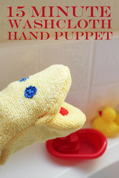 15 Minute Washcloth Hand Puppet