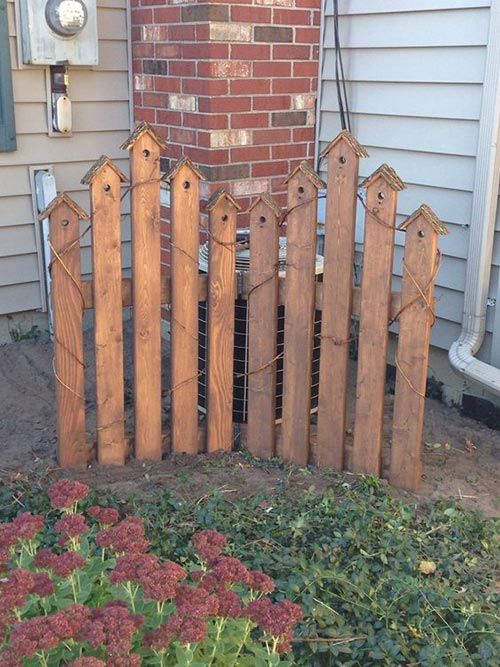 Bird House Picket Fence