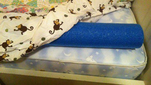 Stop Falling out of Bed with Pool Noodles