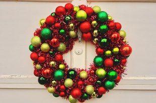 Dollar store Christmas Ornament Wreath
