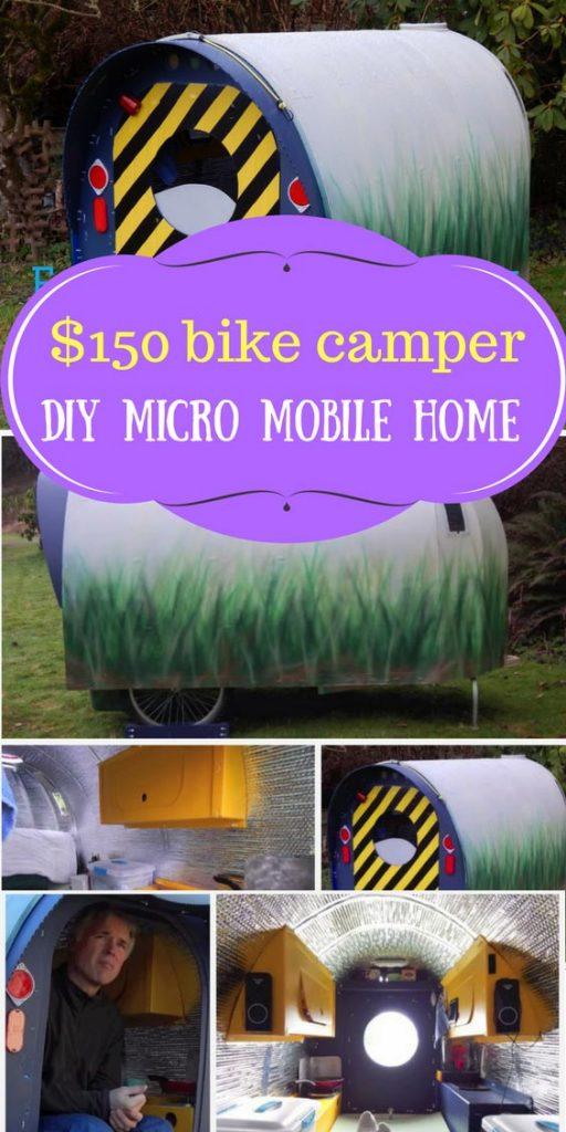 $150 bike camper: DIY micro mobile home