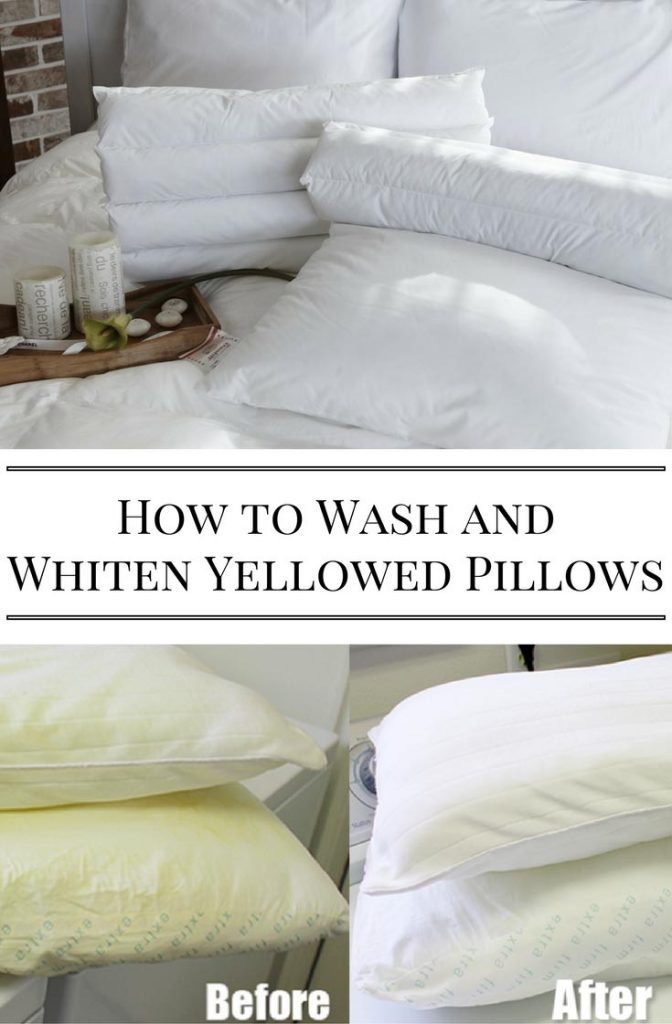 How to Wash and Whiten Yellowed Pillows