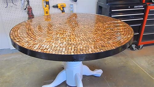 How to create an incredible penny table top