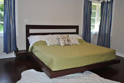 King Bed Floating Platform Bed