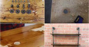 DIY Industrial Pipe Shelving Unit