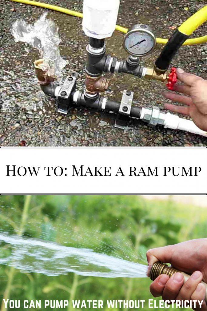 Make a ram pump