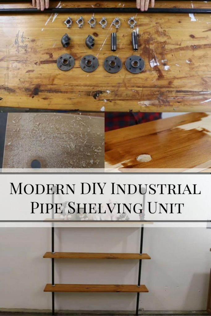 Modern DIY Industrial Pipe Shelving Unit