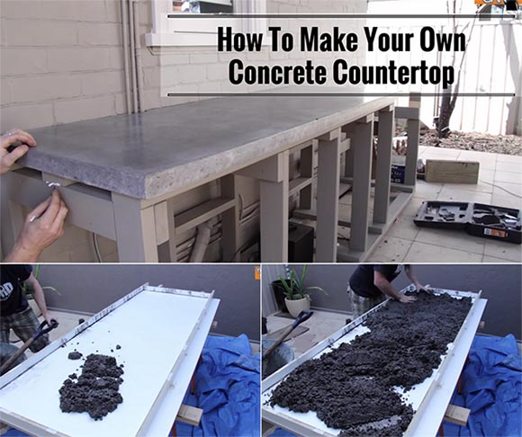 How to make your own concrete countertop home and for How to make home decorations