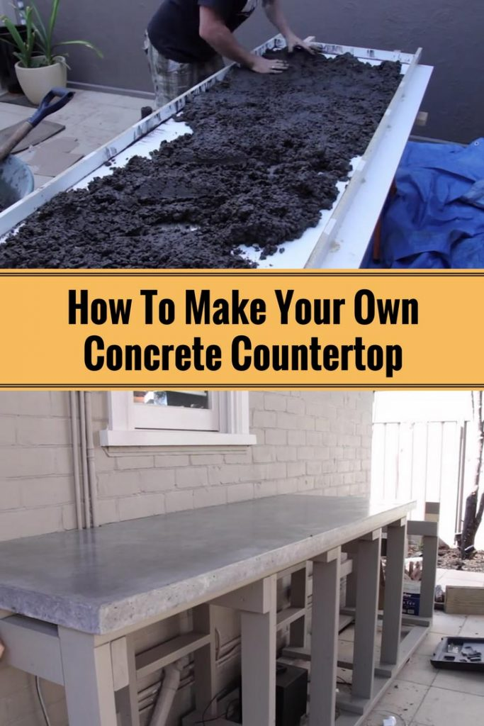 How to make your own concrete countertop home and for Custom build your home