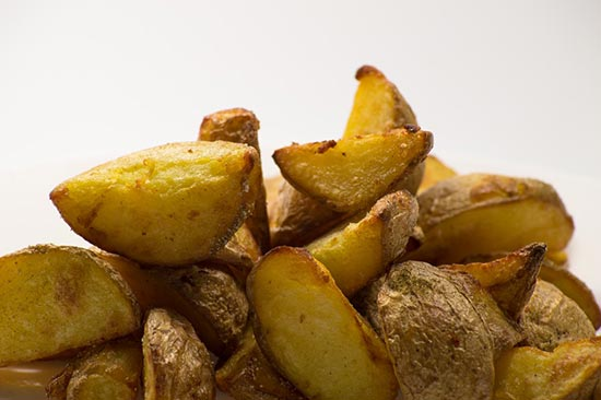 Potato Skins Left On