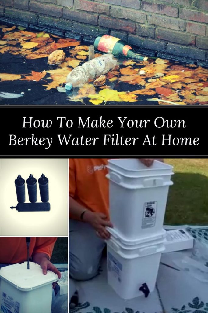 how to build your own water filter