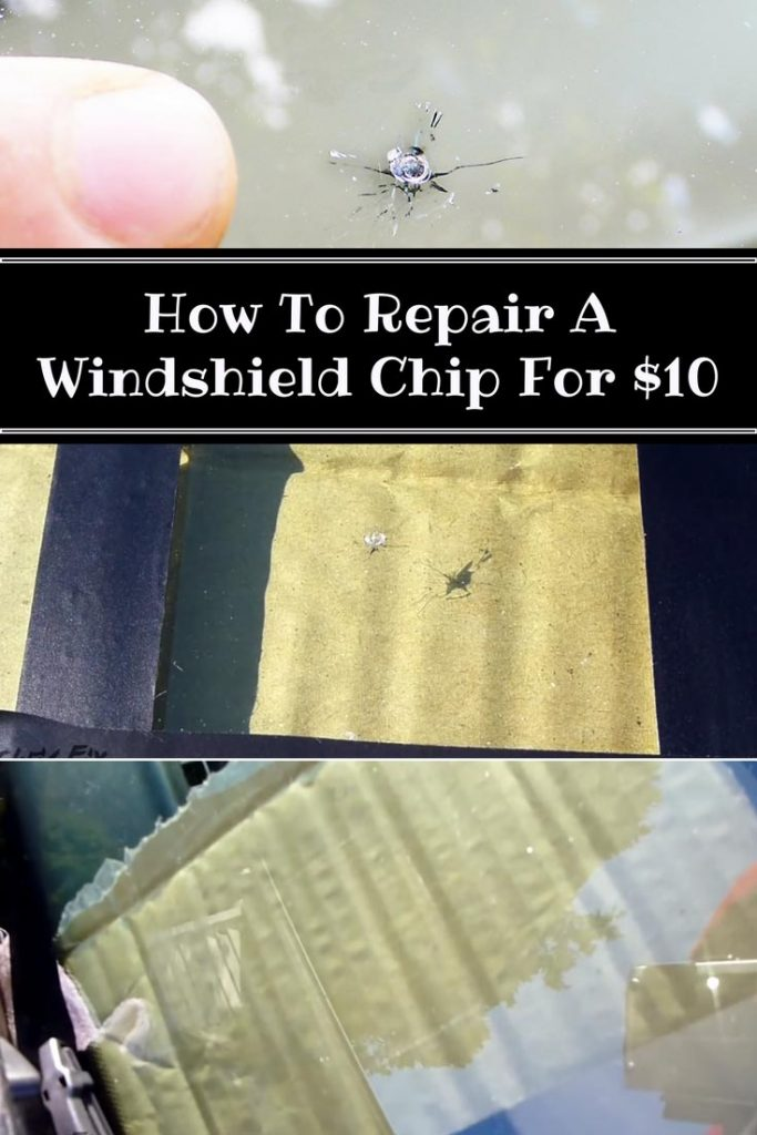 How To Repair A Windshield Chip For $10