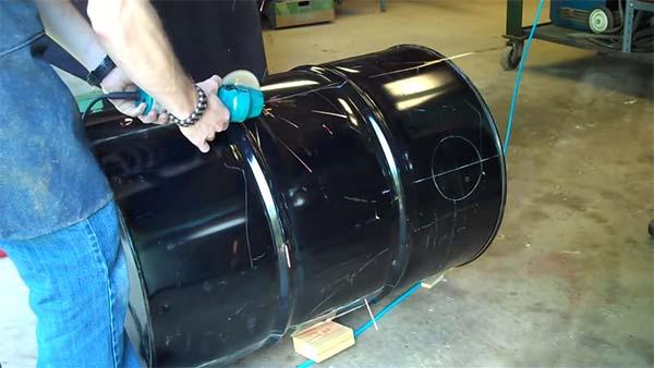 55 metal gallon drum