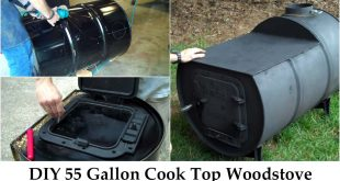 DIY 55 Gallon Cook Top Woodstove