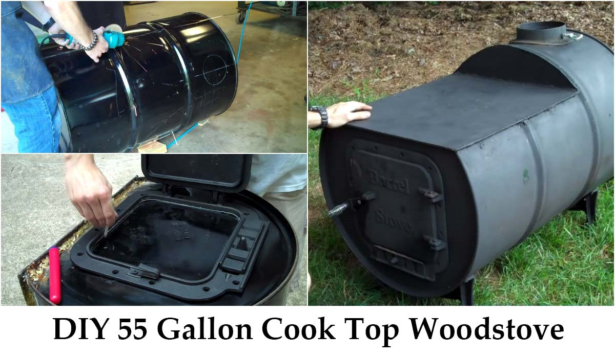 DIY 55 Gallon Cook Top Woodstove