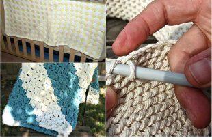 12 Beautiful DIY Crochet Baby Blankets