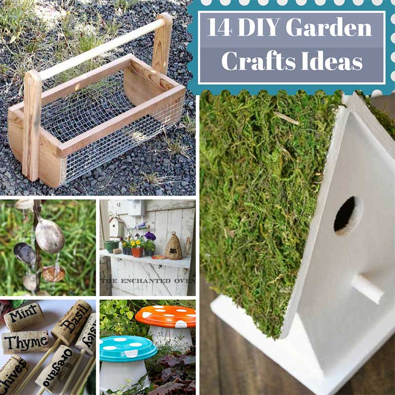 14 Diy Garden Crafts Ideas Home And Gardening Ideas