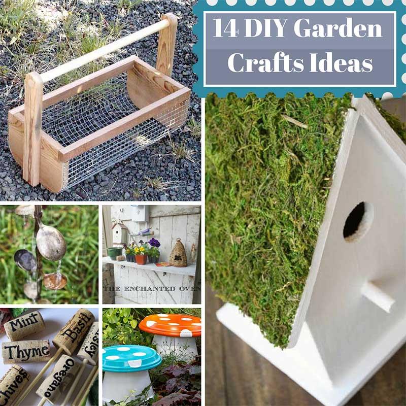 14 DIY Garden Crafts Ideas