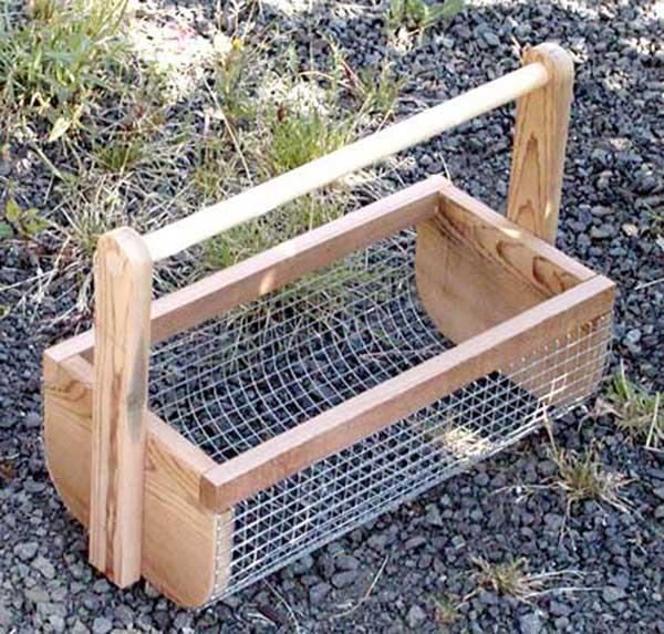 A veggie wire basket